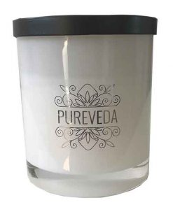 Pureveda Classic Collection Black Matte Lid Australian Luxury Home Fragrance