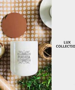 Lux Collection Pureveda Luxury Home Fragrance Candle Marble Container