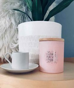 Pureveda pink fragrant candle